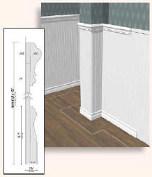 Moldings Trim  Cieling Ornaments  Pot, Spot, Top Lighting  Cornices, Wainscot Panel, Double Chair Rails