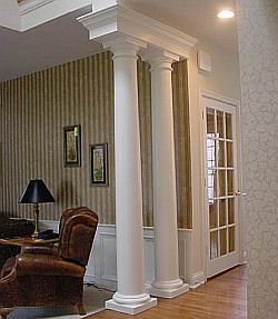 interior wall architectural columns decor