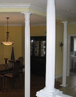 Charmant Round Fluted Columns