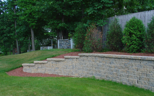 Backyard Hill Removal :  landscaping with rocks, steep hill landscaping, backyard landscaping