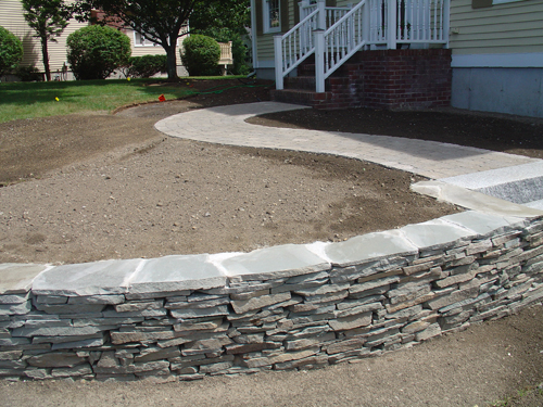 Stone walls by tompkins landscaping and irrigation for Landscaping stones